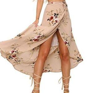 Womens Boho Floral Tie Up Waist Summer Beach Wrap